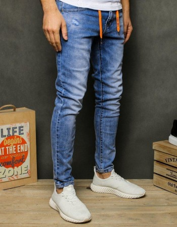 Spodnie jeansowe męskie niebieskie UX2481