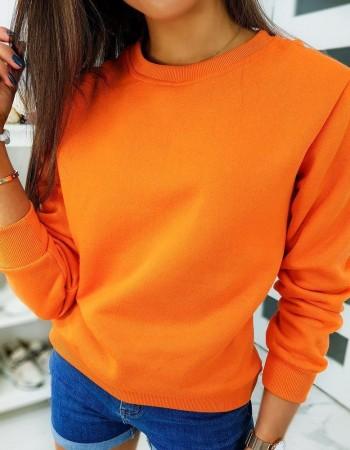 Klasická dámska mikina FASHION II bez kapucne BY0317 - oranžová