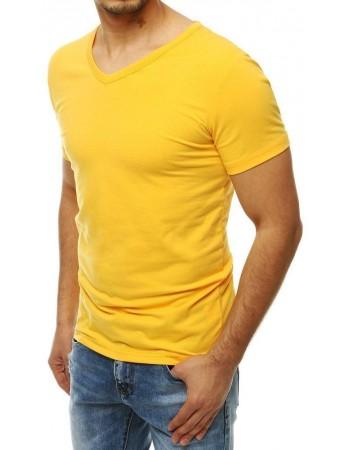 Žlté pánske tričko bez potlače RX4115
