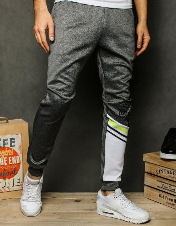 Spodnie męskie dresowe ciemnoszare UX2527