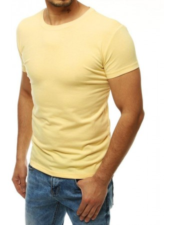Svetložlté tričko bez potlače pre mužov RX4188