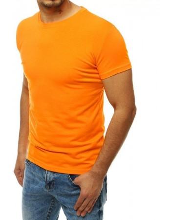 Svetlooranžové tričko bez potlače pre mužov RX4190