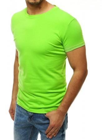 Limetkové tričko bez potlače pre mužov RX4191