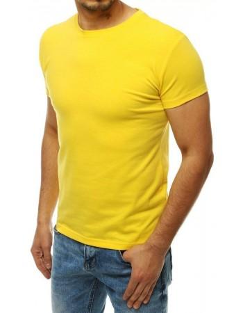Žlté tričko bez potlače pre mužov RX4194
