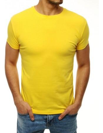 T-shirt męski bez nadruku żółty RX4194