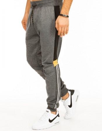 Spodnie męskie dresowe ciemnoszare UX2722