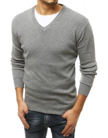 Sivý pánsky sveter WX1666