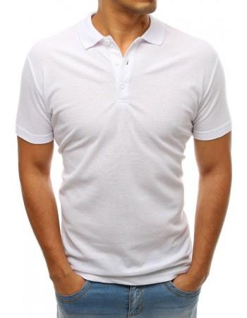 Koszulka polo męska biała PX0176