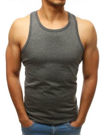 Pánske antracitové tričko bez rukávov (rx3493)