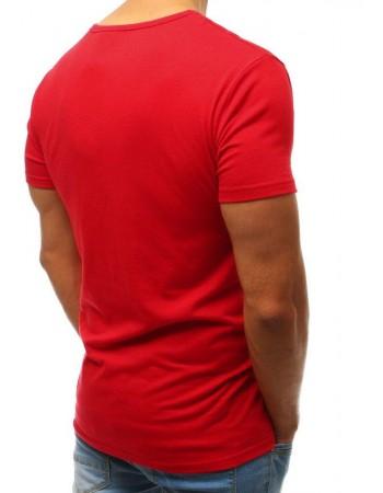 T-shirt męski z nadrukiem czerwony RX3515