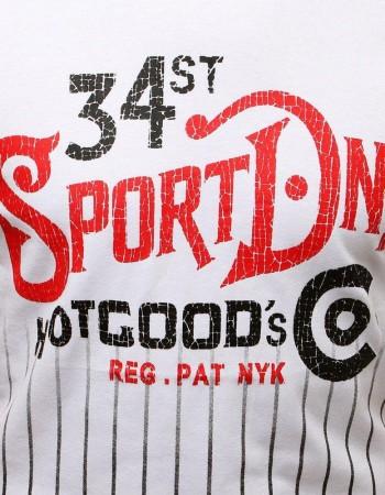 T-shirt męski z nadrukiem biały RX3534