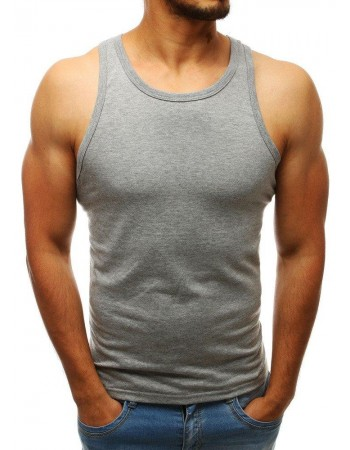 Pánske sivé tričko bez rukávov (rx3586)