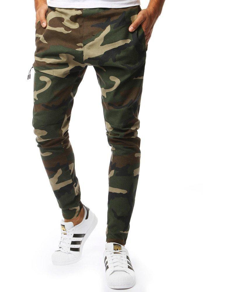 Zelené pánske nohavice jogger (ux2006)