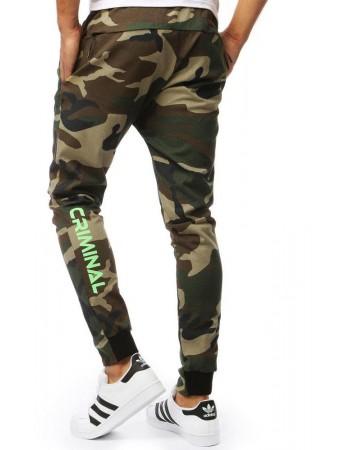 Zelené pánské jogger kalhoty UX2006