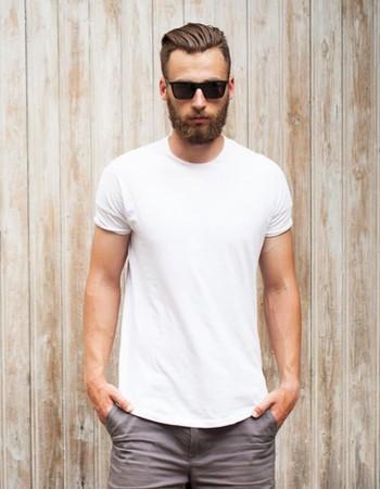 Jednofarebné pánske tričko (rx2571) - biele