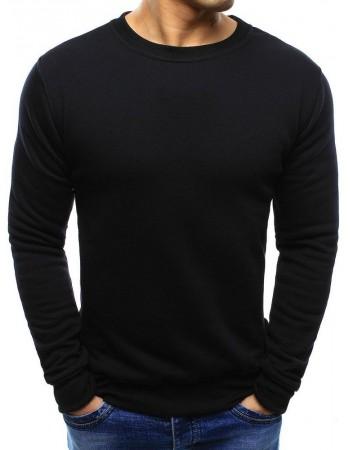 Pánska mikina bez kapucne (bx2416) - čierna