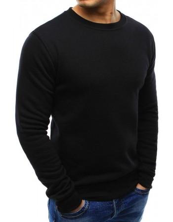 Pánská černá mikina bez kapuce BX2416