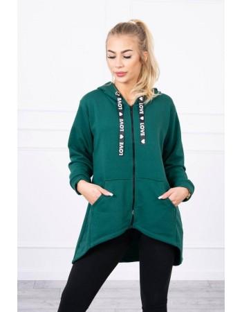 Mikina na zips pre dámy 9108 - zelená