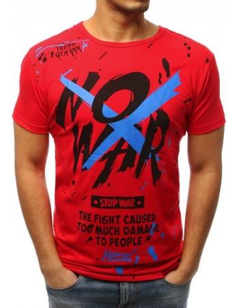 T-shirt męski z nadrukiem czerwony RX3068