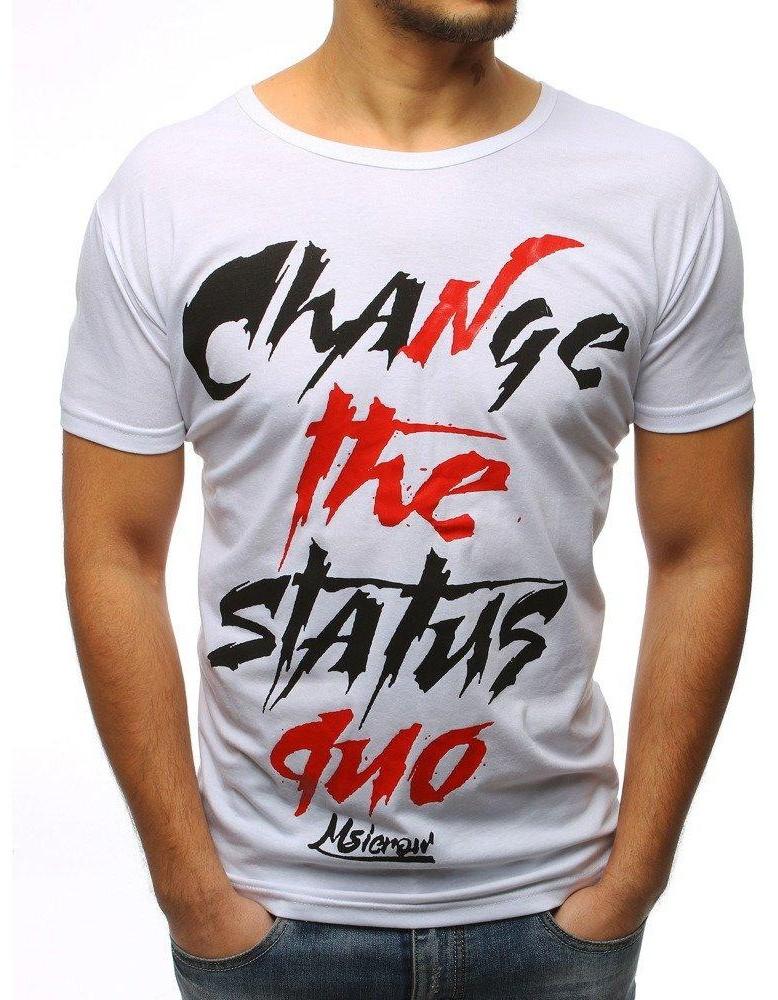 Biele tričko pre mužov (rx3084)