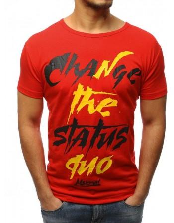 Červené tričko pre mužov (rx3085)