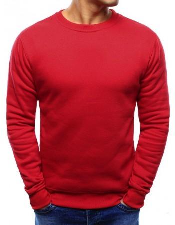 Pánska mikina bez kapucne (bx3867) - červená
