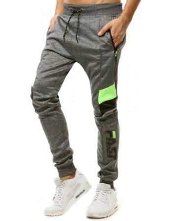 Spodnie męskie dresowe ciemnoszare UX2863