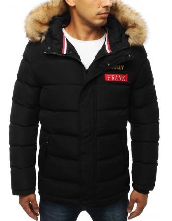 Zimná pánska bunda s kapucňou (tx2947) - čierna, veľ. L