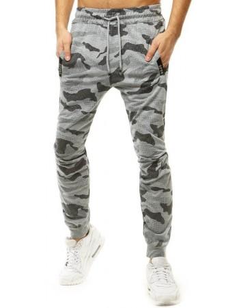 Spodnie męskie dresowe moro jasnoszare UX2777