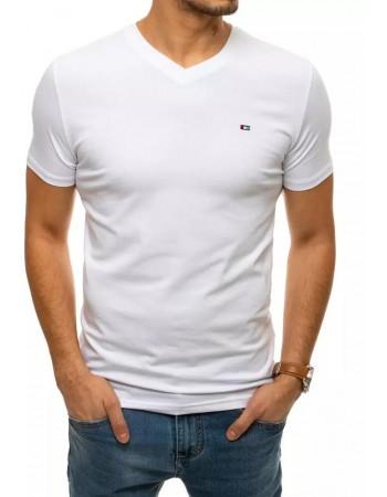 T-shirt męski bez nadruku biały RX4462