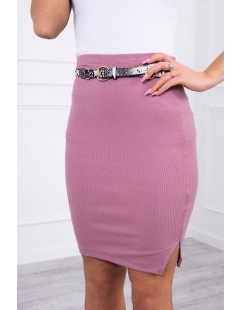 Sukňa s prúžkom tmavo ružová, Tmavý / Ružový