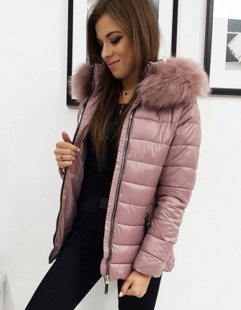 Ružová dámska prešívaná zimná bunda SARA (ty1005)
