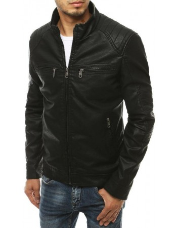Kožená bunda pre mužov TX3462 - čierna