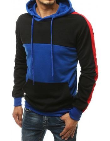Mikina pre pánov s kapucňou BX4575 - modrá
