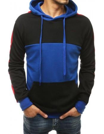 Bluza męska z kapturem niebieska BX4575