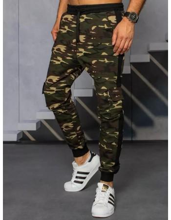 Spodnie męskie dresowe moro beżowe Dstreet UX3314