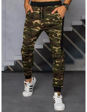 Spodnie męskie dresowe moro beżowe Dstreet UX3321