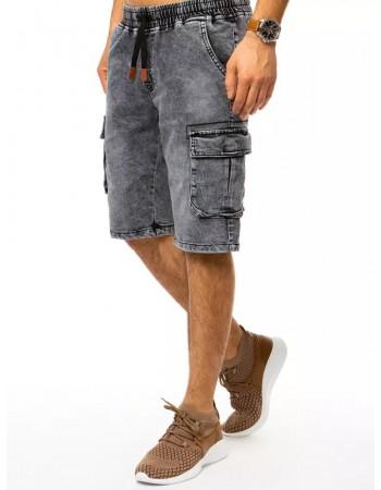 Spodenki męskie czarne jeansowe Dstreet SX1302