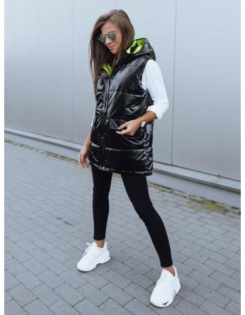 Kamizelka damska pikowana MAYLO czarna Dstreet TY2114