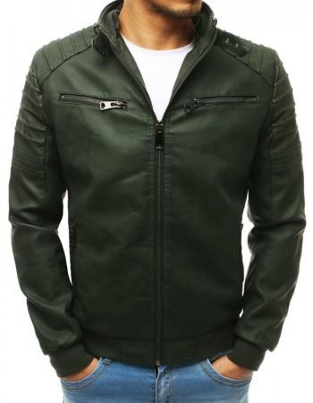 Originálna kožená bunda (tx2654) - zelená, veľ. L