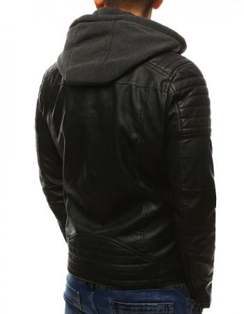Čierna koženková bunda (tx2071), veľ. L