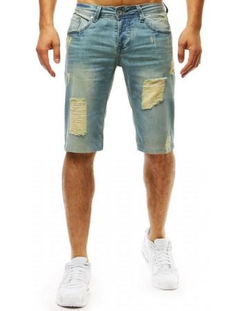 Spodenki męskie jeansowe niebieskie (sx0973)