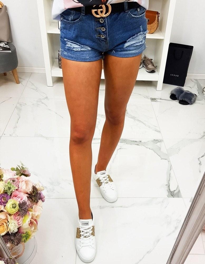Modré džínsové kraťasy pre dámy (sy0105)