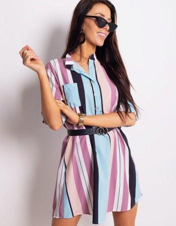 Pruhované šaty EVA (ey0772)