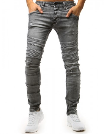 abe022e0be53f Pánske jeansové nohavice (ux1515) - grafitové