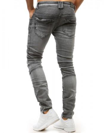 Pánske jeansové nohavice (ux1515) - grafitové