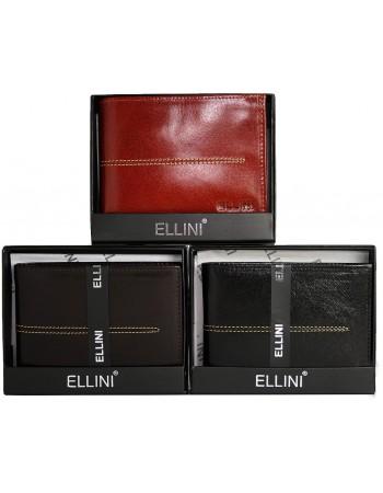 Pánska čierna peňaženka Ellini