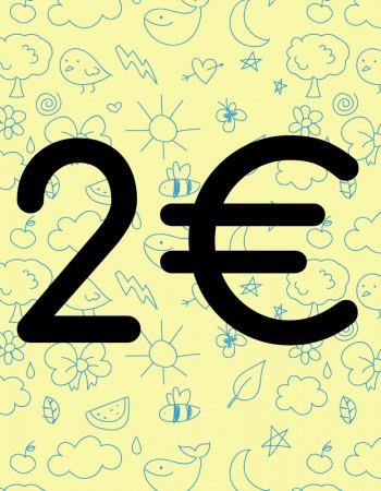 Príspevok na charitu v hodnote 2,00€
