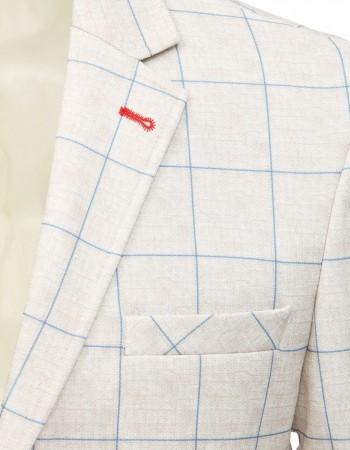 Béžové casual sako pre mužov (mx0470)