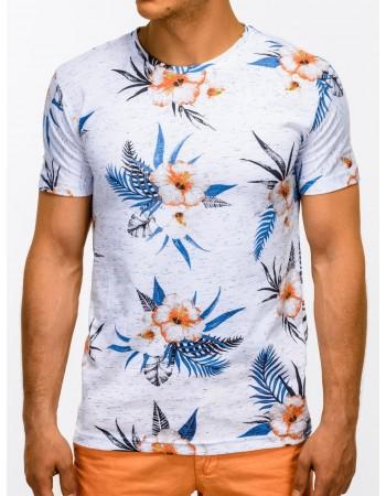 Pánske zaujímavé tričko S1167 - biele, veľ. S